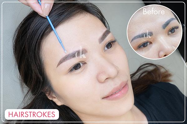 Hairstrokes lông mày tại DK Eyebrows & Beauty