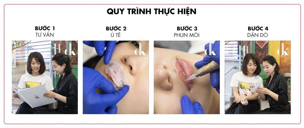 Quy trình phun môi tế bào gốc tại DK Eyebrows & Beauty