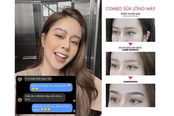 Ca xóa sửa lông mày trổ đỏ thành công tại DK Eyebrows & Beauty