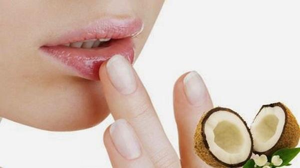 Dầu dừa chứa các thành tố có lợi cho đôi môi