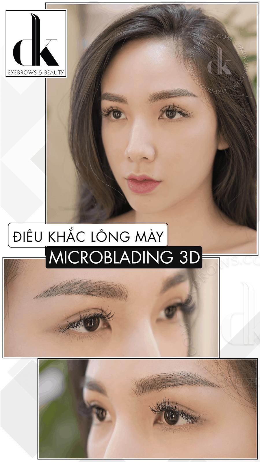 công nghệ điêu khắc lông mày 3D