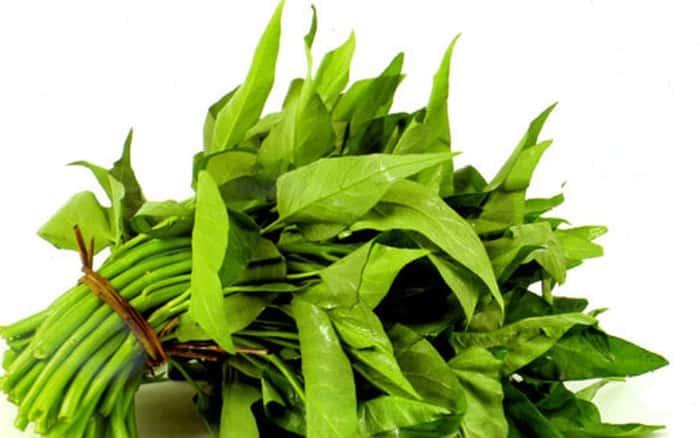 Cần kiên ăn rau muống sau khi điêu khắc lông mày